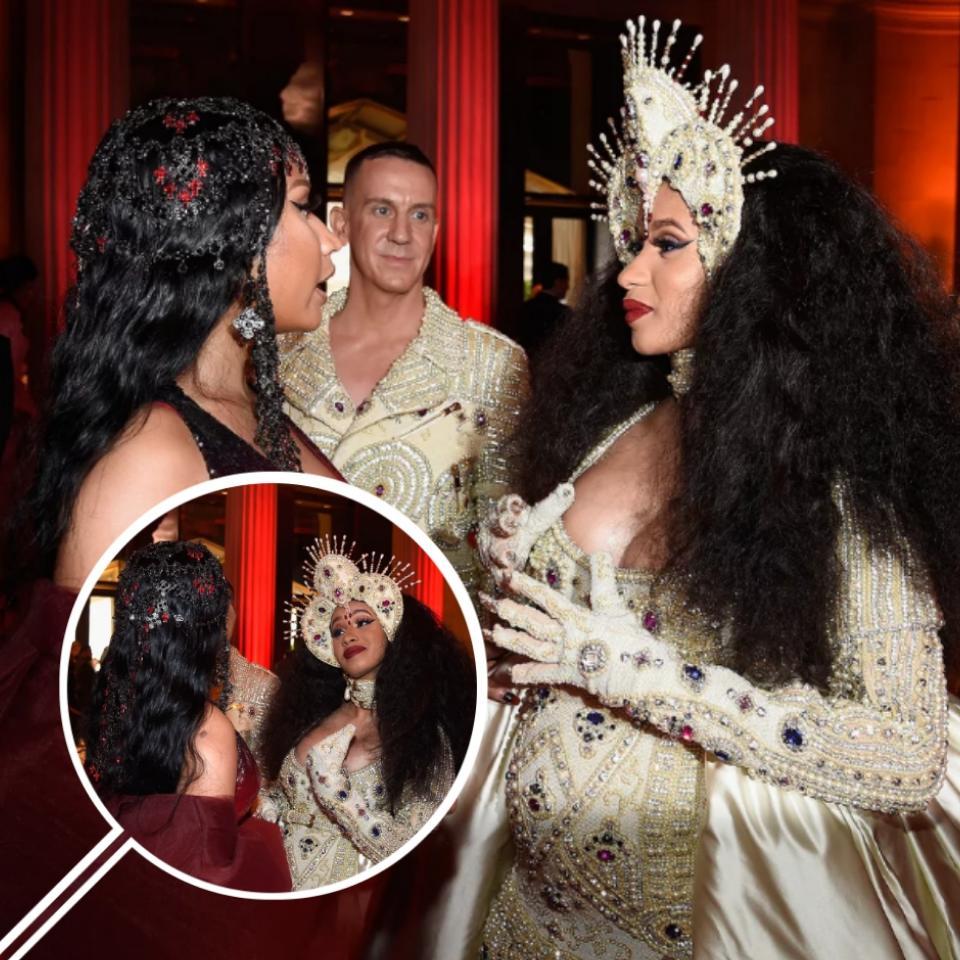 Nicki Minaj And Cardi B Pictured Chatting Together At The 2018 Met Gala
