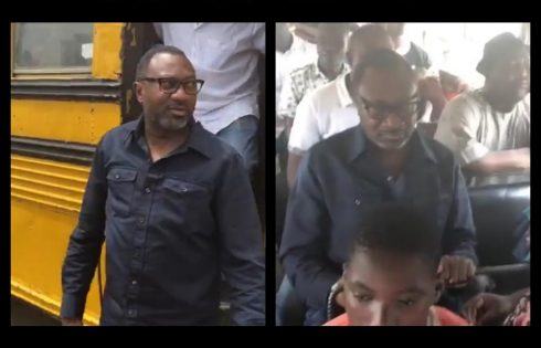 Femi Otedola Boards Molue From Sango To Agege