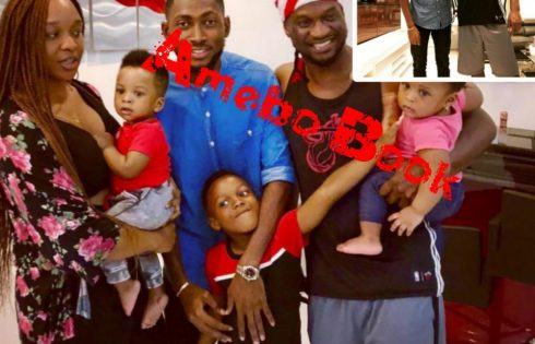 Miracle Visits Paul Okoye And His Beautiful Family
