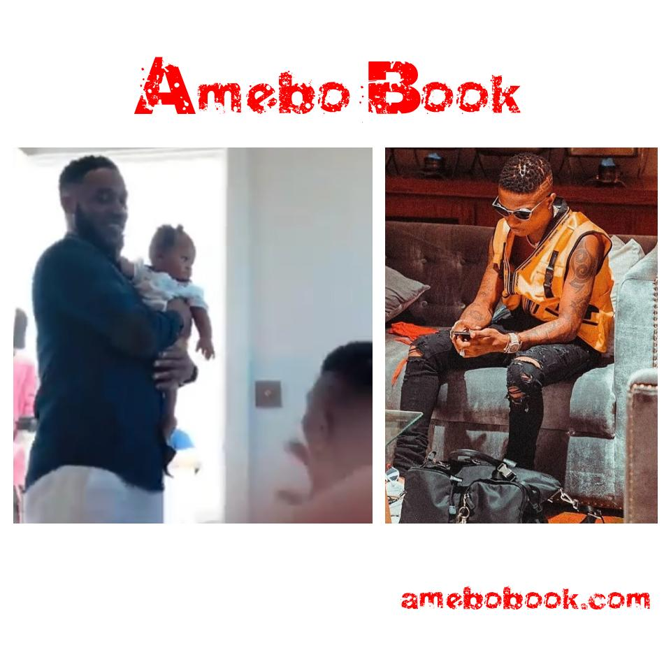 JJ Okocha Hangs Out With Wizkid And His Son Zion