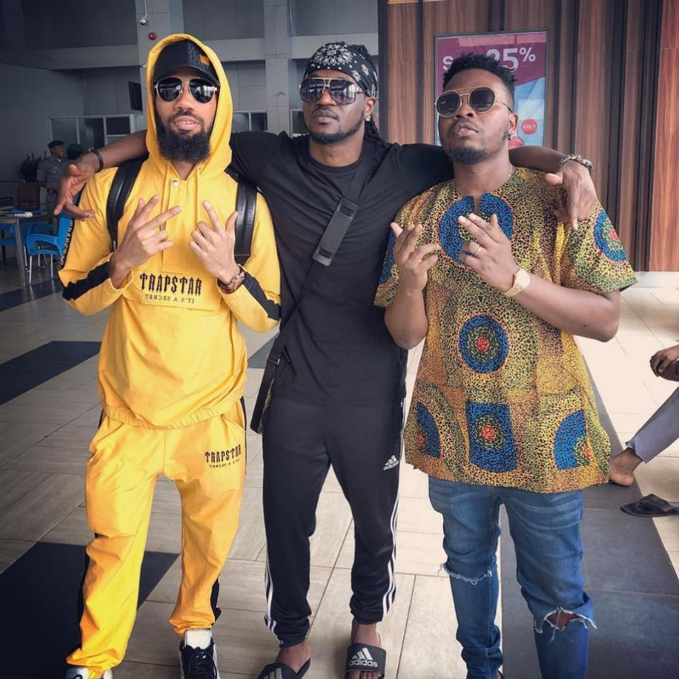 Paul Okoye Pictured Hanging Out With Phyno And Olamide