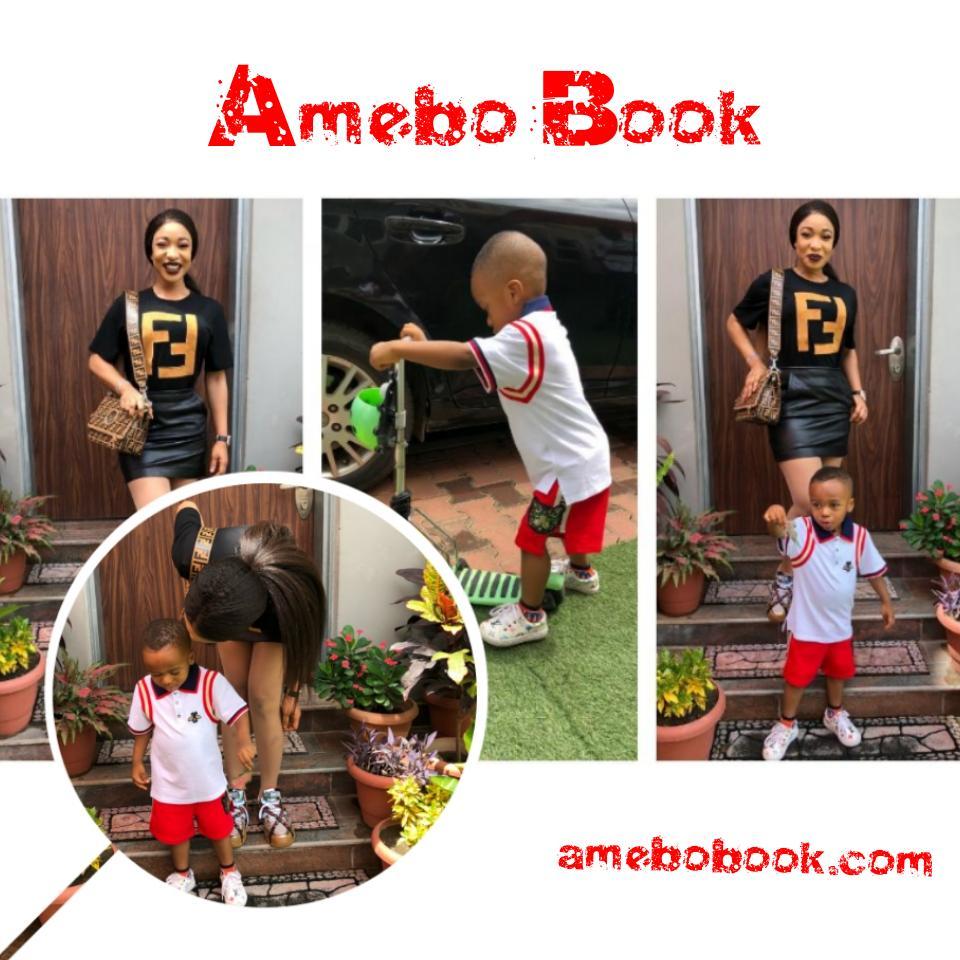 Tonto Dikeh Steps Out In N248K Fendi T-Shirt