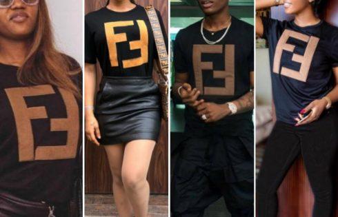 Tonto Dikeh Caught Rocking Fake Fendi T-Shirt