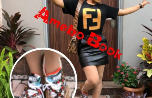 Tonto Dikeh Rocks Gucci's Yet To Be Released SEGA Chunky Jewels Sneaker