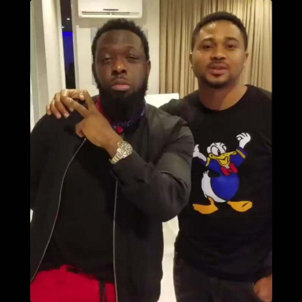 Mike Godson Chilling With Timaya At His Residence