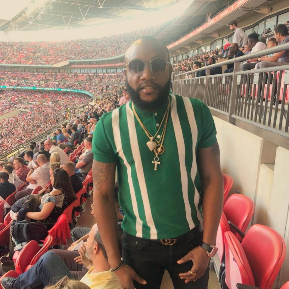 What Kcee Rocked To Watch Nigeria Play England