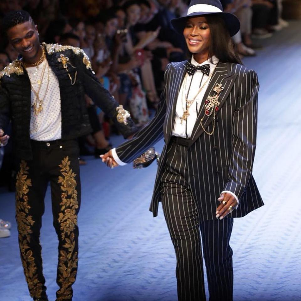 Wizkid And Naomi Campbell Hit Dolce & Gabbana Runway