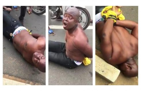 Nigerian Man Runs Mad In Togo Beach