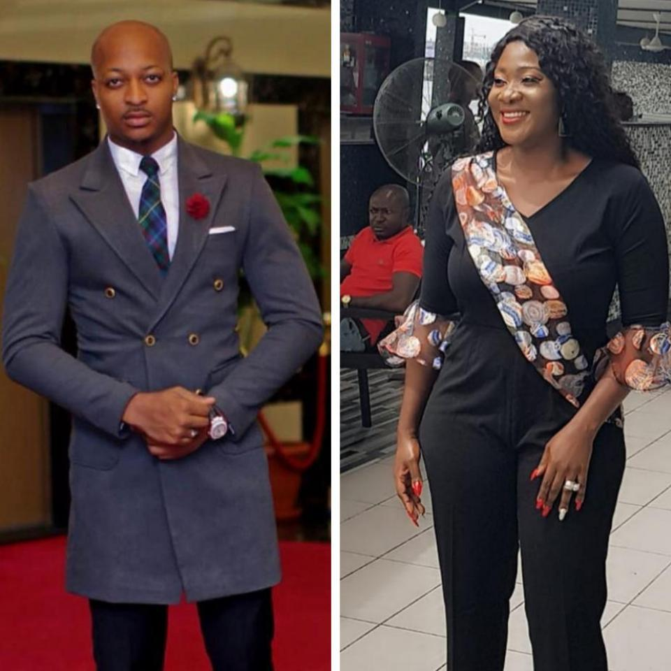IK Ogbonna Carries Firewood While Posing With Mercy Johnson