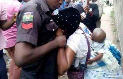 Nigeria Police Officer Beats Up Married Woman Because Of Fifty Naira In Ibadan