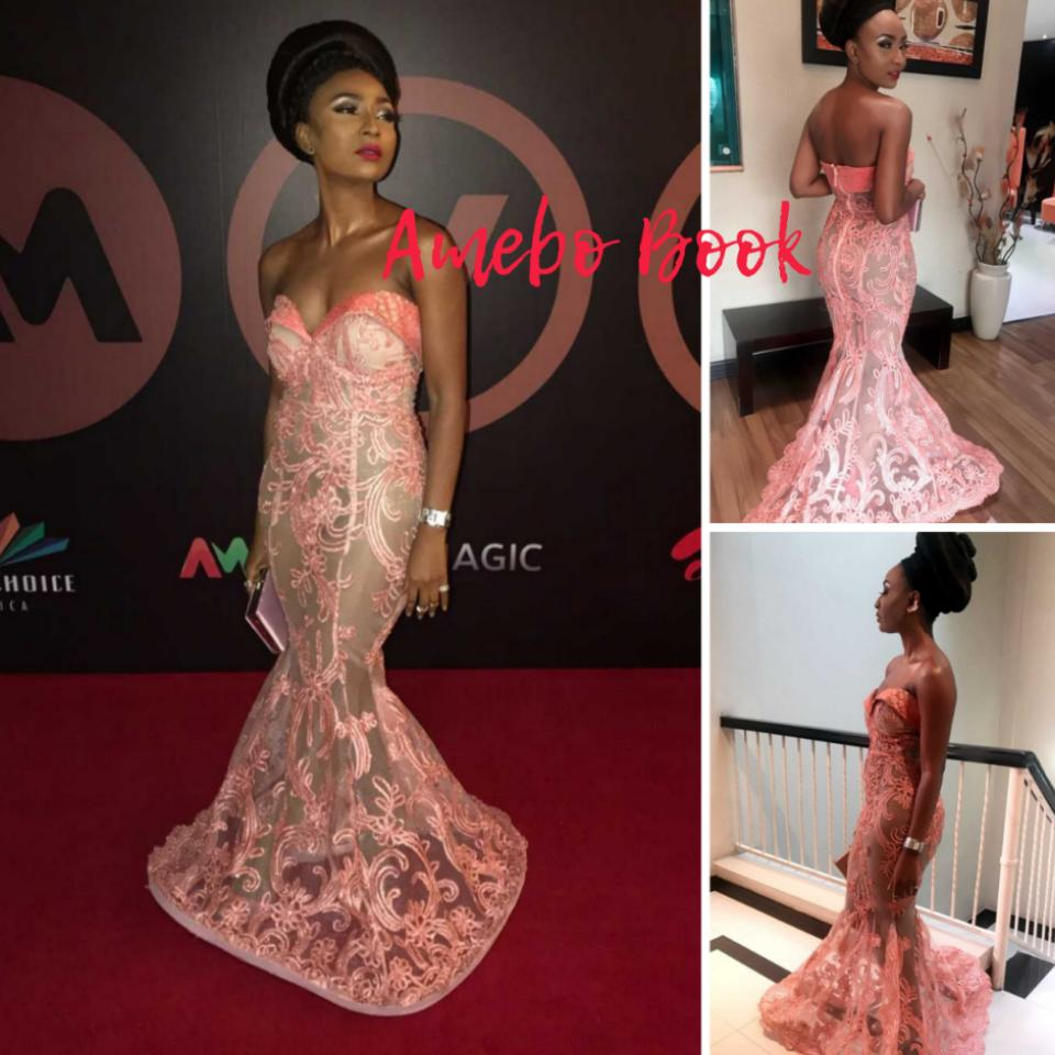 Belinda Effah Illusion Mermaid Dress AMVCA2018