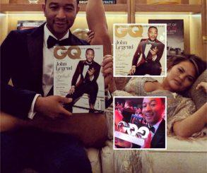 Chrissy Teigen Celebrates John Legend First Ever GQ Cover
