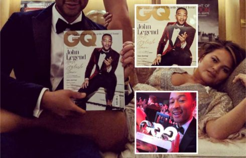 Chrissy Teigen Celebrates John Legend First Ever GQ Cover