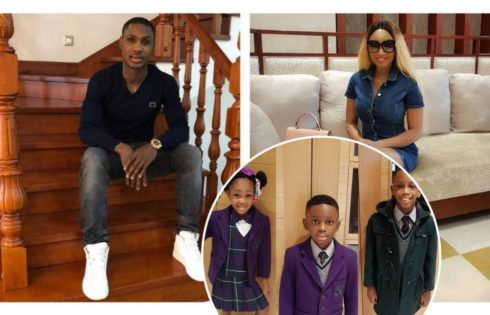 Jude Ighalo And Wife Gush Over Children After Seeing Them In School Uniforms