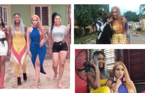 Juliet Ibrahim And Chizzy Alichi On Set Small Girls With Big God