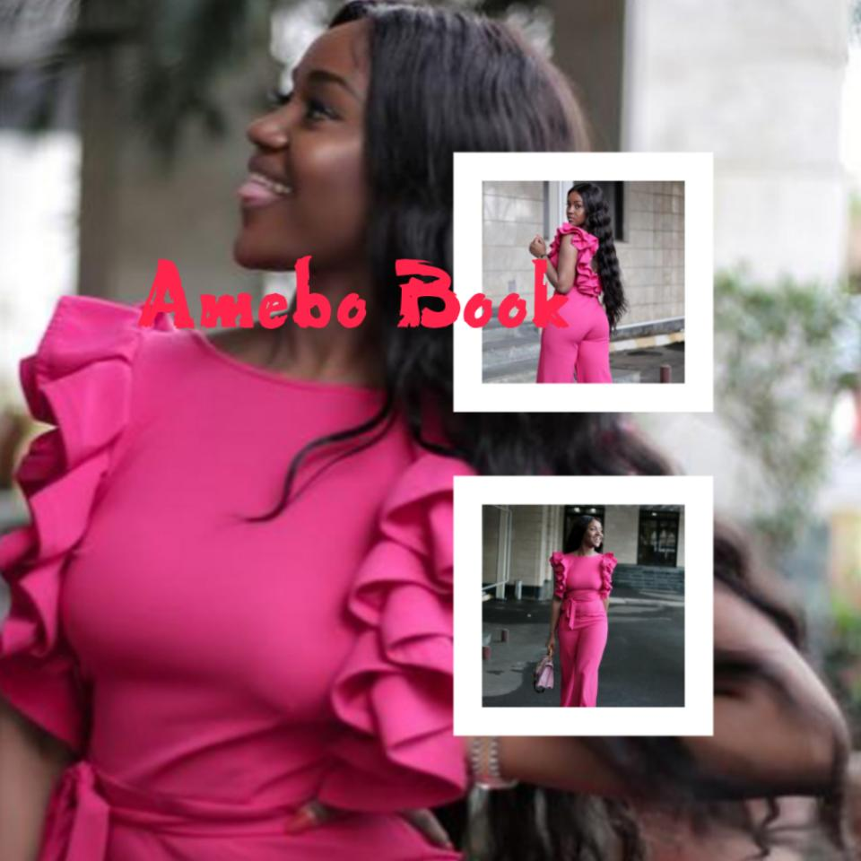 Chioma Stuns In Pink Jumpsuit
