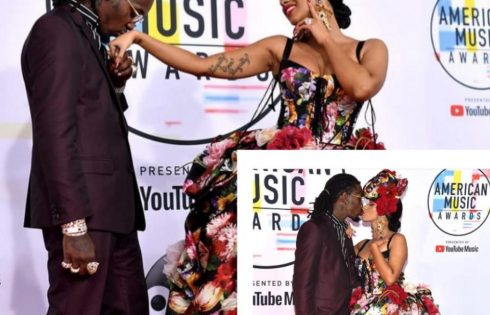 Cardi B And Offset Kiss Passionately At American Music Awards 2018