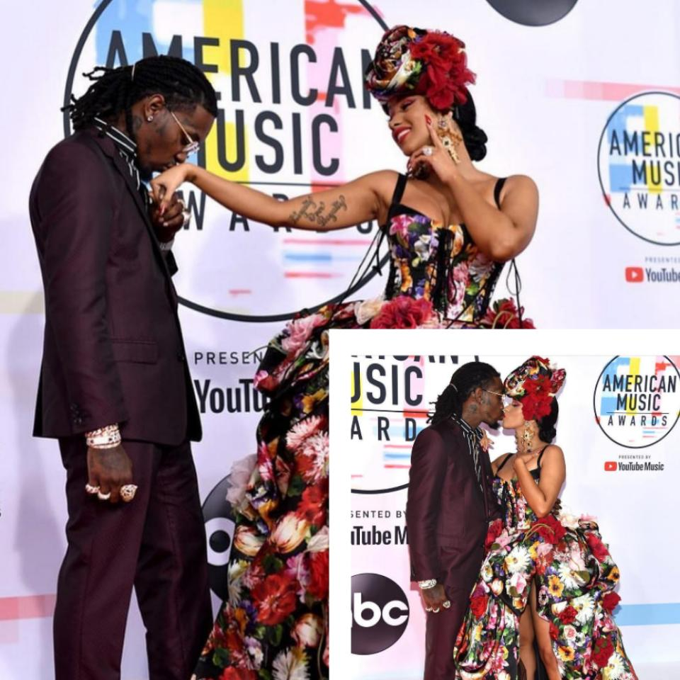 American Music Awards 2018: Cardi B And Offset Kiss Passionately PLUS Her Stunning Outfit [Photos]