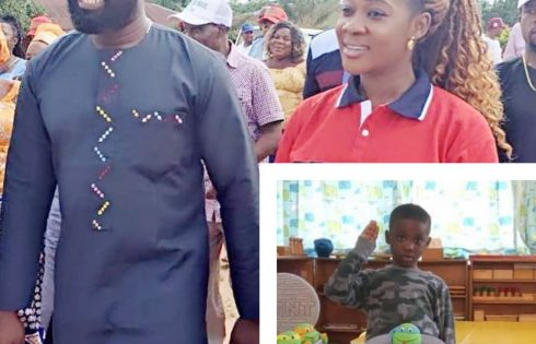 Mercy Johnson And Prince Odi Okojie Celebrate Son Henry's 4th Birthday