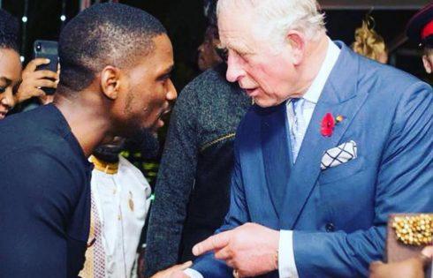 Tobi Bakre Meets Prince Charles In Ghana