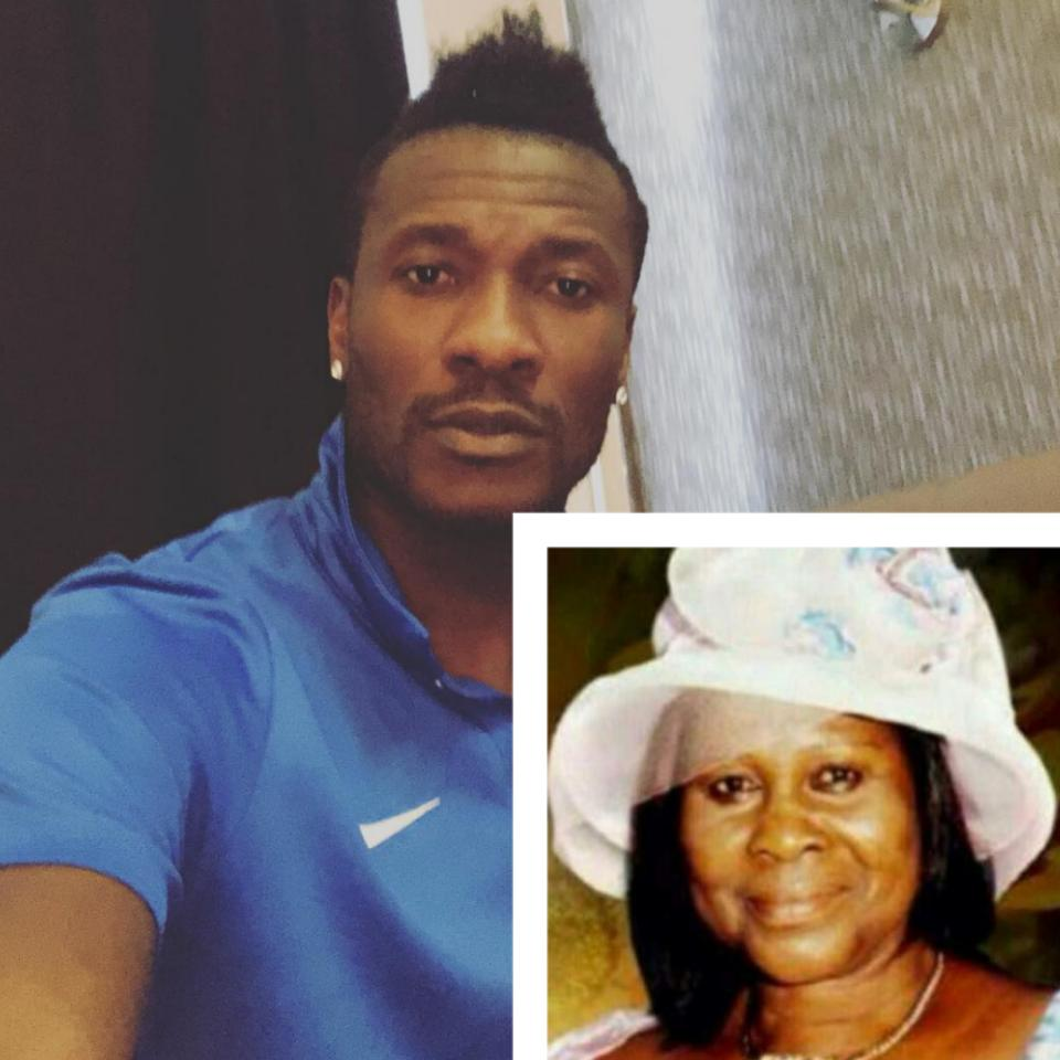 Asamoah Gyan Cries Out To Dead Mum