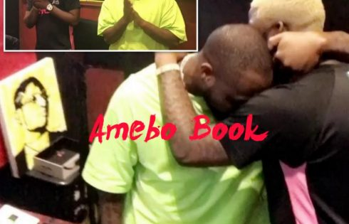 Davido And Skales Locked In A Tight Embrace