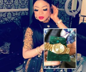 Bobrisky Gets A Rolex As Gift From His Bae
