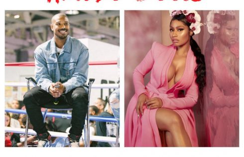Nicki Minaj Said Michael B Jordan Would Be Taking Off Her Dress