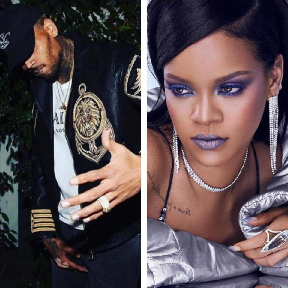 Chris Brown Comments On Two Of Rihanna's Racy Photos