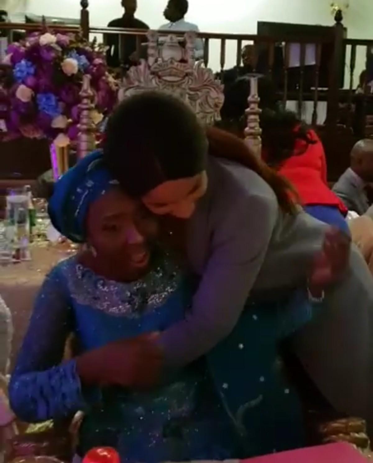 Moment Adesua Etomi Surprised Her Mum On Her 60th Birthday (6)