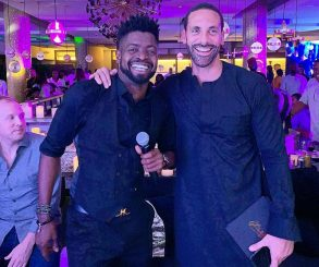 Basketmouth Pictured With Rio Ferdinand