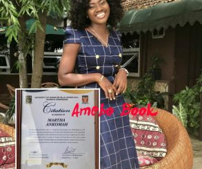 Citation In Honour Of Martha Ankomah