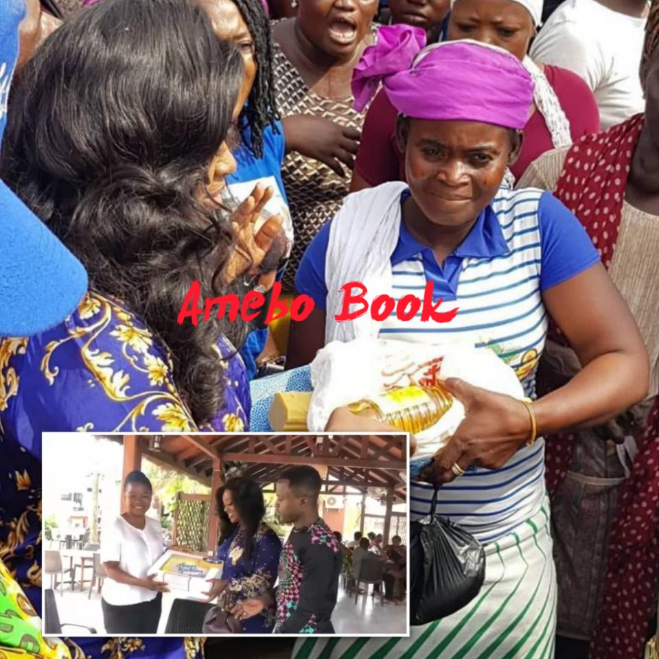 Jackie Appiah Donates To Agbogbloshie Market Women