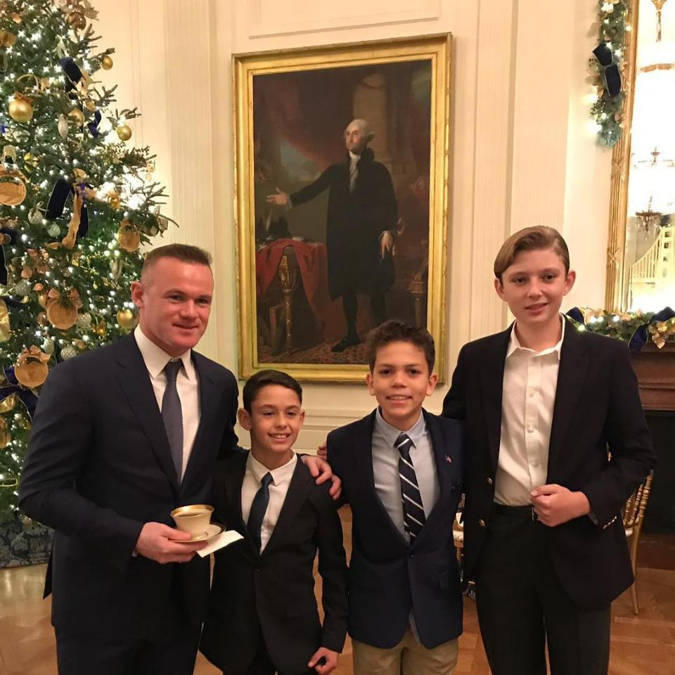 Wayne Rooney At White House Christmas Children's Party