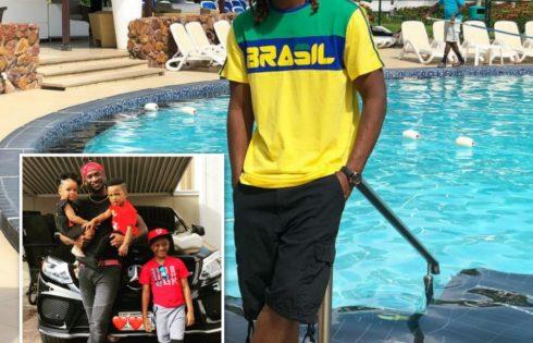 Paul Okoye Poses With His 3 Children