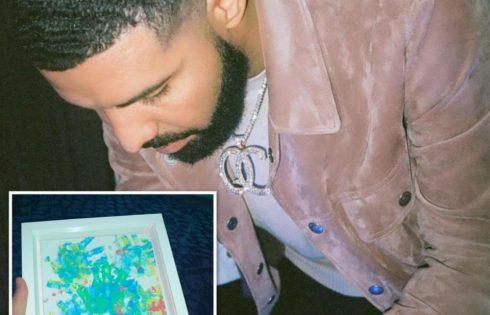 Drake Shows Off Artwork Son Adonis Made For Him