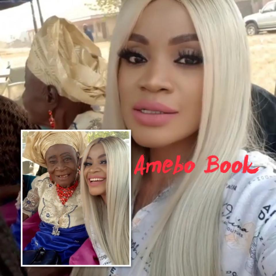 Uche Ogbodo Rocks Village Party With Her Grandparents