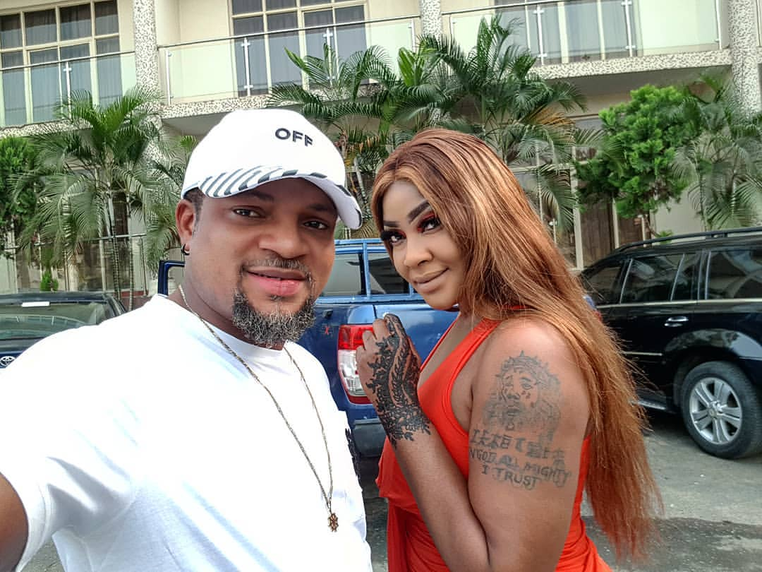 Angela Okorie With Walter Anga Okon Lagos With Junior Pope At Calabar Carnival 2018