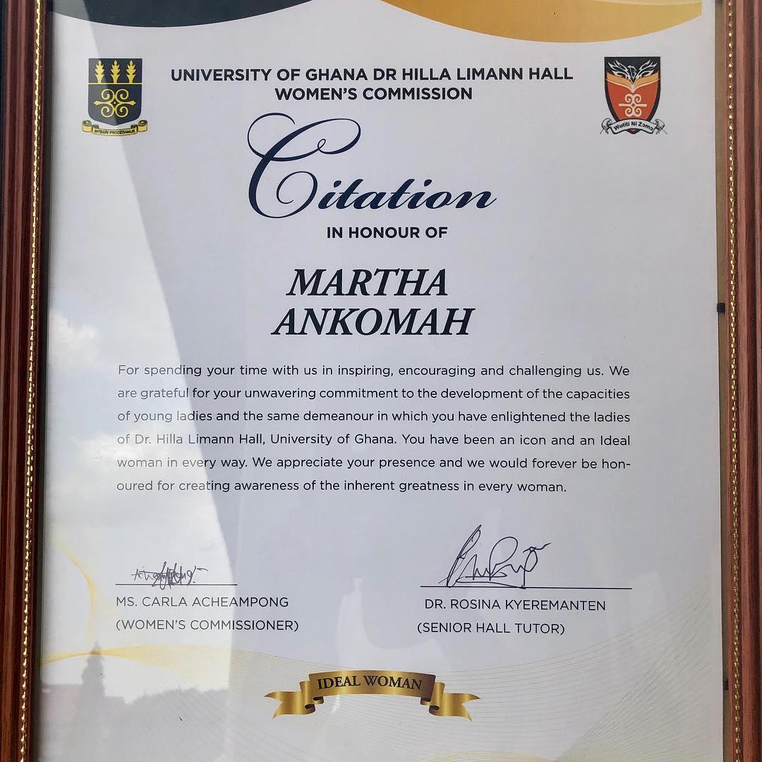 Citation In Honour Of Martha Ankomah (2)
