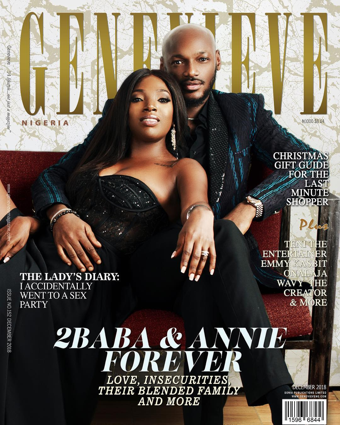 Tuface And Annie Idibia Cover Genevieve Magazine