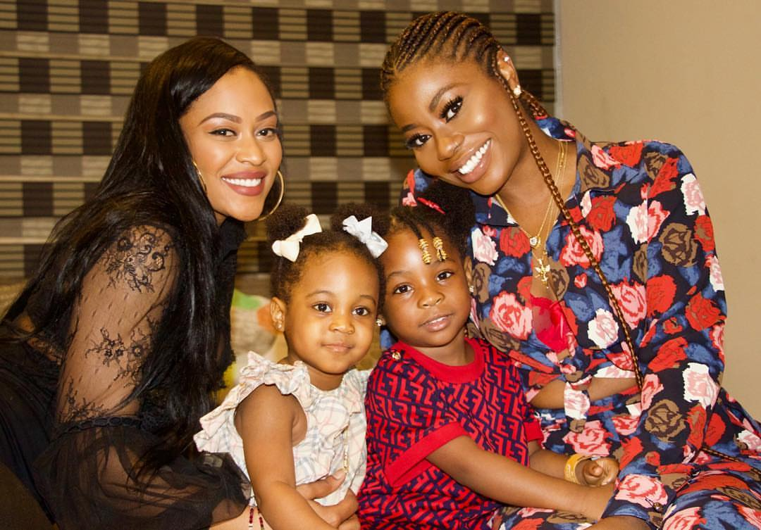 Davido's Baby Mamas Hangout As Daughters Pose Together