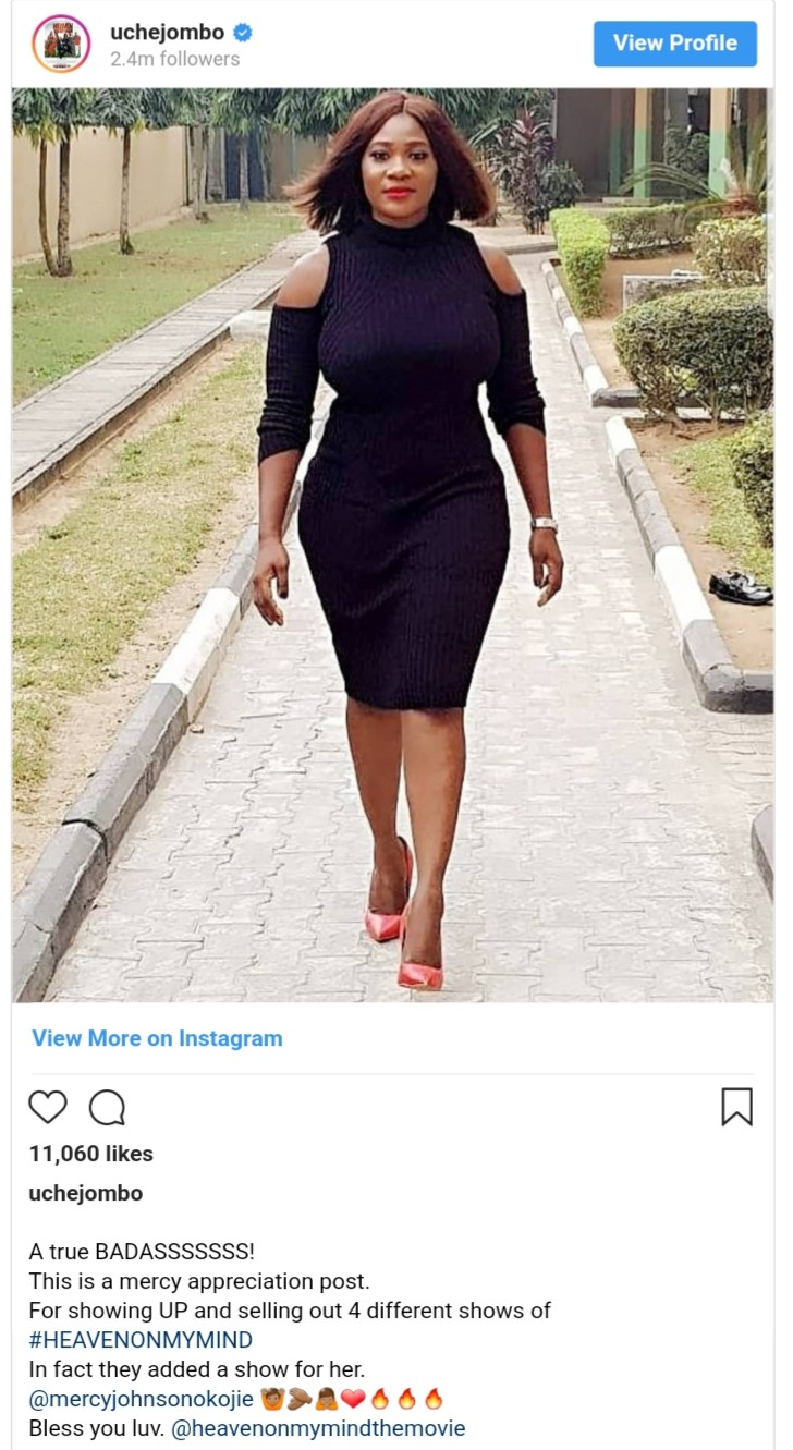 Mercy Johnson Sells Out 4 Different Show Heaven on My Mind