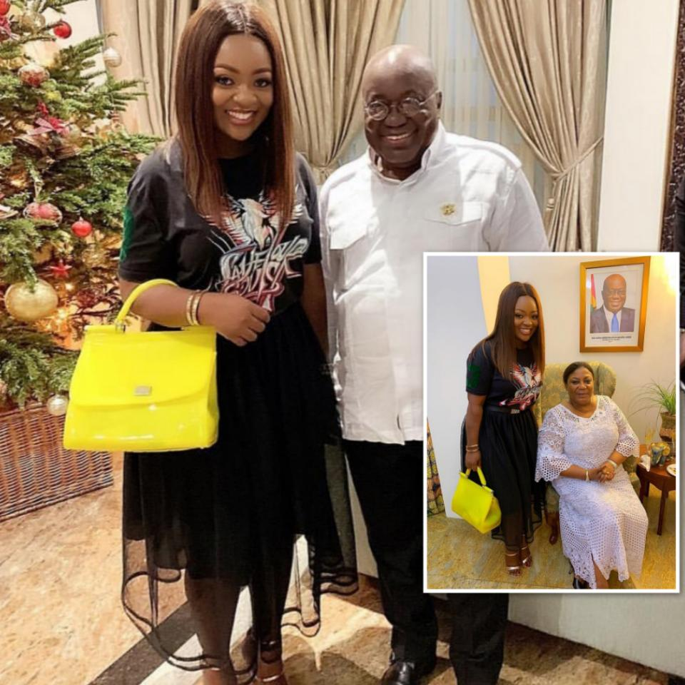 Jackie Appiah New Year Photos With Akufo-Addo And Wife Rebecca