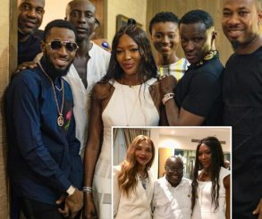 D'Banj And Jackie Appiah Meet Naomi Campbell In Accra