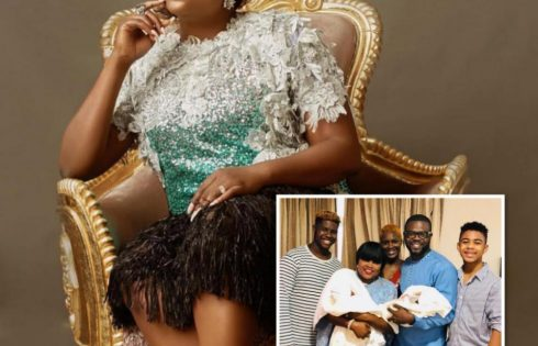 Funke Akindele Shares First Photo With Her Twin Boys