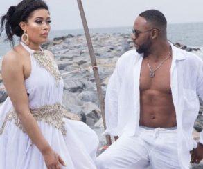 Bolanle Ninalowo And Adunni Ade All White Beach Photo