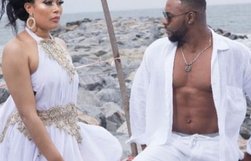 Bolanle Ninalowo And Adunni Ade All White Beach Photo