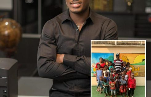 Odion Ighalo Spends Time With Homeless Kids At His Orphange