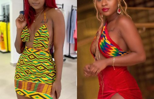 Efia Odo Shows Off Curves While Slow Dancing In The Pool