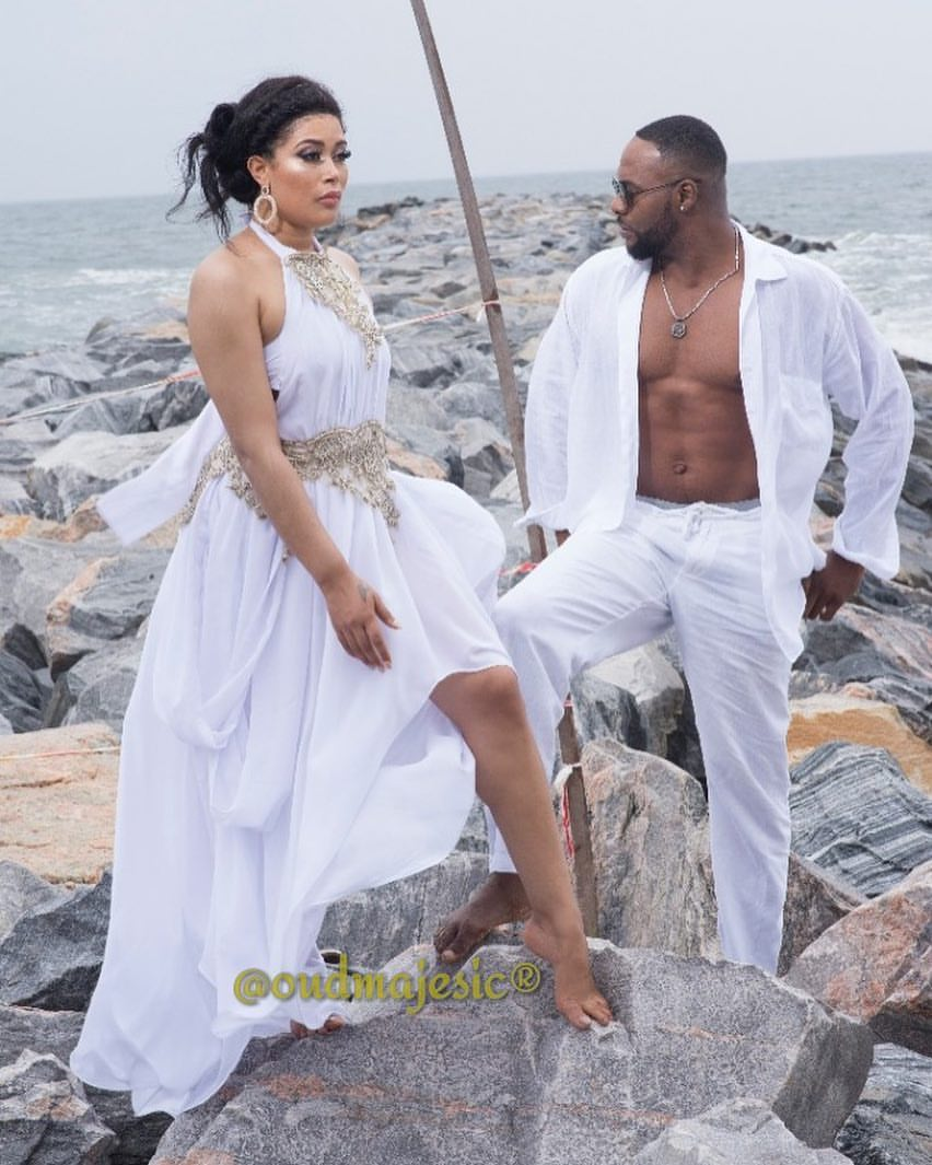 Bolanle Ninalowo And Adunni Ade All White Beach Photo (2)